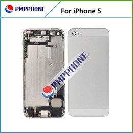 Wholesale Iphone Frame Housing Gold - Gold blcak white Middle Frame Housing cover Bezel Assembly Housing Replacement or with Parts without parts iPhone 5 Back cover repair