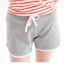 Wholesale Women S Beach Pants Cotton - Wholesale-Hot Summer Outdoor Shorts Women Casual Candy Solid 11 Colours Short Pants Ruffles Thin Plus Size Women's Fold Sports Beach D019