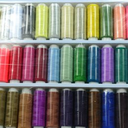 Wholesale Sewing Notions Tools - Polyester Sewing Thread 39 Colors Sewing Machine Quilting Home Lightweight Pack Thread High Intensity Thread Sewing Notions & Tools 073