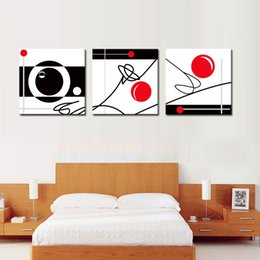 Wholesale Geometry Pictures - Babfaelry 3 PCS Wall Decor Geometry Painting Modern Abstract Artwork HD Printed Oil Painting on Canvas Without Frame