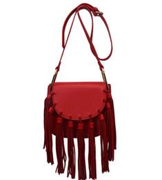 Wholesale Tassle Bags Wholesalers - Women Handbag Shoulder Bags PU Leather Fringe Tassle Lady Satchel Crossbody Bag Brand New Good Quality Free Shipping