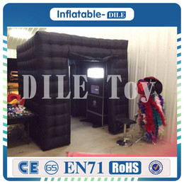 Wholesale Party Tent Lights - Free Shipping Led lighting Inflatable Photo Booth One Opening Photo Booth Tent for Party Wedding