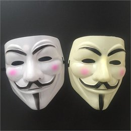 Wholesale Horror Ball - 500Pcs V Mask Masquerade Masks For Vendetta Anonymous Valentine Ball Party Decoration Full Face Halloween Super Scary Guy Fawkes