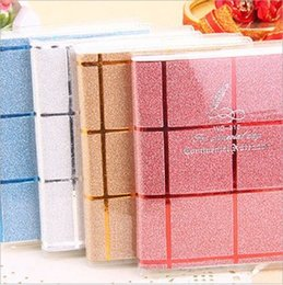 Wholesale Notepad Case - Wholesale- 100% High Quanlity!! 2015 New Fashion Shiny checkered Notebook Case Cover Journal Diary Blank office supply fashion organizer