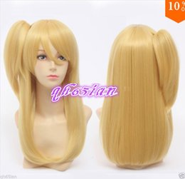 Wholesale Lucy Cosplay - Free shipping New High Quality Fashion Picture Indian Mongolian wig>>>FAIRY TAIL Lucy Heartphilia Long Golden Straight Hair Cosplay Wigs