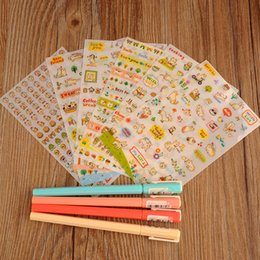 Wholesale Felt Sheets - Lovely 6 Sheet set Cat Paper Stickers for Diary Scrapbook Wall Photo Decor Skin DIY*cartoon stickers TO DO LIST LET IT BE FEEL SO GOOD THANK