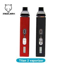 Wholesale Ecig Lcd - Dry Herb Titan 2 Kit herbal vaporizers pen with 2200mAh Burn Dry Herbs LCD Display Black and Red for Ecig titan 2 kit