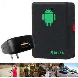 Wholesale Fast Holds - A8 Mini GSM GPRS Tracker Global Real Time GSM GPRS Tracking Device With SOS Button for Cars Kids Elder Pets No GPS DHL fast delivery