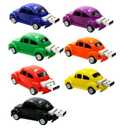 Wholesale 64 Gb Usb Drives - Creative Beetle U disk 4GB 8GB 16GB USB flash 2GB USB Mini cooper cute mini car usb flash drive car memory stick