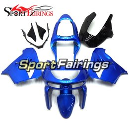 Wholesale 98 kawasaki ninja zx9r fairings - Pearl Blue Full Fairings For Kawasaki ZX9R 1998-1999 98-99 ABS Plastic Motorcycle Bodywork Body Kit Cowlings Body Kit Body Frames Fittings