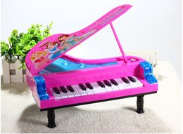 Wholesale Music Piano Toys - 2016 the latest music sound flash multi-function children piano electronic piano toy with Bobbi toy fairy small piano music 14 songs