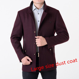 Wholesale 7xl Winter Coats - Fall-2016 winter men's coat single-breastedslim thicker wool jacket male trench coat manteau large size 7XL 8XLFree shipping