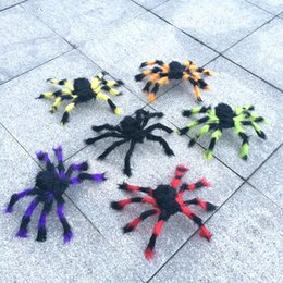 Wholesale Wholesale Party Supplies Direct - Plush Spider Toy 30cm Spoof Terror Halloween Props For Haunted House Bar Horrific Decoration Factory Direct Sale 16 63gn B R