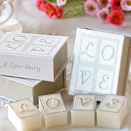 4 pçs / set Nova História de Amor Vela em Forma de Livro Caso Presente Da Festa de Casamento Favor Do Casamento Presentes DHL Frete Grátis de