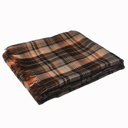Wholesale Mens Vintage Cashmere - vintage classic plaid mens and women scarves pashmina 200cm*80cm 100% pure cashmere woman scarf gifts for Chirstmas Thanksgiving Day