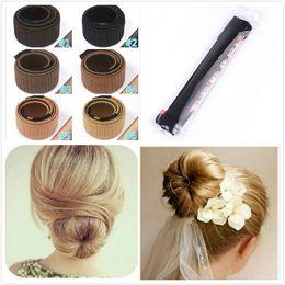 Wholesale Hair Metal Wigs - DIY Hair Tool Bun Band Hair Curler Wig Donuts Hair Band French Magic Bun Maker for Bride Fashion Girls