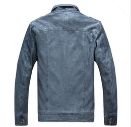 Wholesale Male Leather Wool Clothing - Brand Motorcycle Leather Jackets Men Autumn and Winter Leather Clothing Men Leather Jackets Male Business Casual Coats