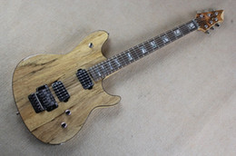 Wholesale Wood Bark - Original Wood Color Electric Guitar with Floyd Rose and Maple Neck,Bark Grain Veneer,Can be changed as your requests