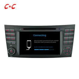2019 mercedes radio navigation Quad Core HD 1024 * 600 Android 5.1.1 Reproducción de DVD del coche para Benz W211 (2002-2008) CLS350 E220, Ewith Radio de navegación GPS Wifi Enlace de espejo DVR mercedes radio navigation baratos
