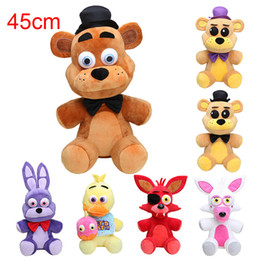 Wholesale Night Coffee - NEW Arrival 18'' 45cm Five Nights At Freddy's plush toys FNAF Golden Freddy fazbear chica bonnie Mangle foxy Plush Doll for kids toys