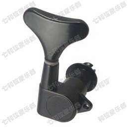 Wholesale Wholesale String Tuner - High quality black bass guitar strings Tuning Peg Keys Tuner Guitar Parts Musical instrument accessories