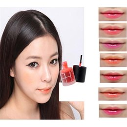 Wholesale Tony Moly Magic - Liquid Tony Moly Cherry Pink Lip Tint Stain Magic Lip Plumper Nature Long Lasting Moisturizing 7 Colors Matte Lipstick Makeup Safe Packaged