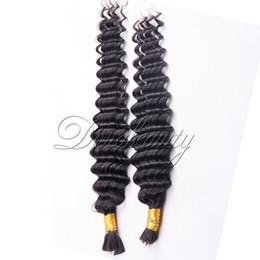 Wholesale Machine Attachments - 1B Natural Black Deep Wave 3pcs Hair Bulk Brazilian Virgin Human Hair Weaves 100% Unprocessed Human Hair Extensions