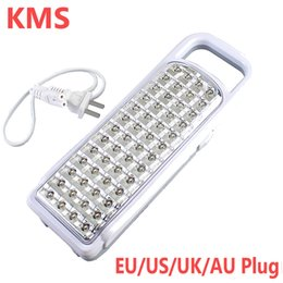 sos lights Coupons - Wholesale-New Arrival KMS Portable 52 LED Rechargeable Handheld Light Ourdoor Camp Emergency Lamp KM-788