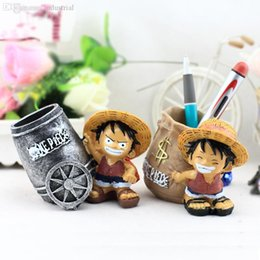 Wholesale Zakka Resin - Wholesale-1 pcs Creative home resin pen container gift accessories zakka good goods Piece Luffy pen container