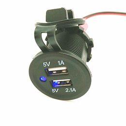 Wholesale Car Cigarette Socket Splitter - waterproof 3.1A Dual USB Car Cigarette Lighter Socket Splitter 12V Charger Power Adapter Outlet MG2013
