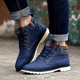 Wholesale High Top Leather Military Boots - XiaGuoCai 2017 High Top Fashion Men Boots Warm Waterproof Military Winter Boots for Men Leather Tactical Shoes X9 35-1