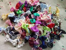 Wholesale Dog Hair Tie - 2016 New Handmade Pet Products Dog Grooming Bows Dog Hair Accessories Pet Hair Tie Dog Bow Hairs, wholesale 50 pieces