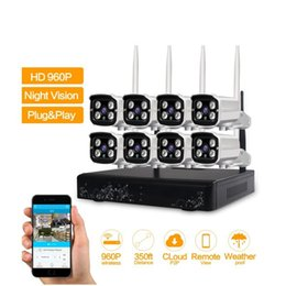 Wholesale Wireless Cctv Systems 8ch - LS-WIFI HD 960P Outdoor Surveillance Camera System 8CH NVR Kit CCTV Home Security Camera System Wireless WIFI IP Camera System ANN