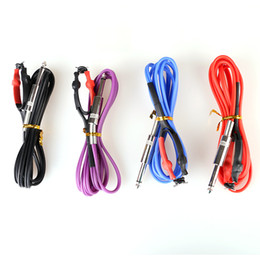 Wholesale Stigma Kit - Hot Sales Top Silicone Clips Hook Line Tattoo Power Clip Cords For Stigma Bizarre V2 Machine Guns 4 Colors Kits Supply TPS5125 Free Shipping
