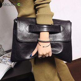 Wholesale Envelope Retro - Wholesale- New Fasion Women Leather Handbag Retro Small Square Envelope Clutch Women Bag Shoulder Crossbody Wpmen Messenger Bag Bolsa