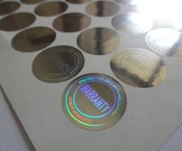 Adesivo di un pezzo online-diametro 2 cm, 245 pezzi per UN SET! etichetta adesiva ologramma argento, nulla se rimosso! versatile ! può essere usato ovunque