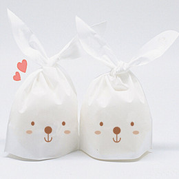 Wholesale Paper Baking Bread - 14cm*22cm baking cookies packing bag candy sweet food packing bread bag gift bag mini cute paper bag 1000pcs lot