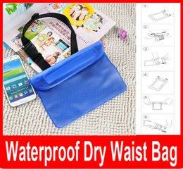 Wholesale Surf Bags - waterproof pouch waist bag for iphone samsung xiaomi jiayu htc waterproof universal sports bag for surfing swimming new fashion