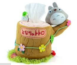 Wholesale Japan Roll - Wholesale- FG275 Creative tissue box paper holder japan style plush material ornament products suit roll paper &Removable Tissue