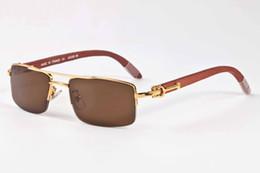 feda15eabc7e41 2019 designer halb randlose brillen 2017 hochwertige büffelhorn gläser für  frauen luxus designer sonnenbrille brillen holz