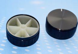 Wholesale Potentiometer Knob Black - Wholesale- Fast Free Ship 10PCS Rotary knob Black 40MM*16.5MM volume knob potentiometer knob aluminum Shell