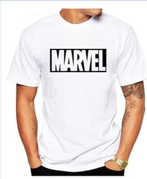 Wholesale Marvel Shipping - 2017 New Fashion MARVEL t-Shirt men cotton short sleeves Casual male tshirt marvel t shirts men tops tees Free shipping