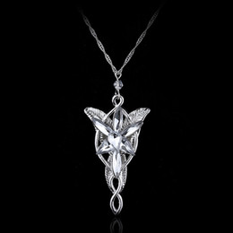 Wholesale Wedding Ring Pendant - New Fashion Austrian Crystal Pendant Jewelry Twilight Star Princess Necklace Lord of the Rings Wizard Princess Wedding Pendant Necklaces