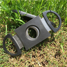 Wholesale Wholesale Cigar Cutters - Pocket Cigar Cutter Plastic Stainless Steel Double Blades Scissors Cigar Knife Tobacco Accessories New DHL FEDEX Free DHG11