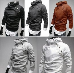 Wholesale Top Stylish Man Coats - Stylish Men Casual Slim Pullover Hoodie Warm Hooded Jackets Coat Sweater Outwear Tops