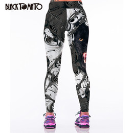 leopard print yoga pants Promo Codes - Wholesale-Yoga Sports Pants Female Fitness 3D Leopard Head Print Sports Tights Sports Clothing Gym Jogging Leggings Sweatpants Woman