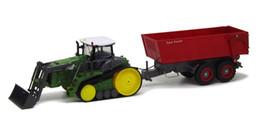 brinquedos agrícolas por atacado Desconto Atacado-RC Tractor Truck 1:28 Crawler Multifuncional Farm Toys Caminhão com Dumper para cima e para baixo grande caminhão de engenharia brinquedos para criança