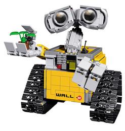 Wholesale Models Boys - LEPIN Blocks Wally e DIY Building Bricks Robot Model Building Toys Juguetes Auction Figures compatible 21303 Kids toy Boy Gifts 16003