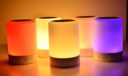 Wholesale Good Music Phones - Good quality L7 Smart Night Lamp Deep Stereo Bass Wireless Bluetooth Speaker FM Audio Player Music Loudspeaker Colorful LED Light SD Card PC