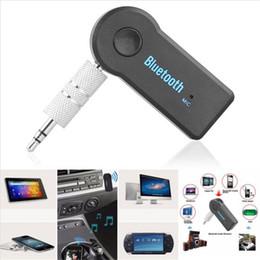 Универсальный Bluetooth автомобильный комплект 3.5 мм потокового A2DP беспроводной AUX аудио музыкальный приемник адаптер громкой связи с микрофоном для телефона MP3 iPAD от